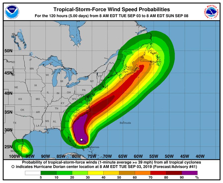 Image of predicted windspeed